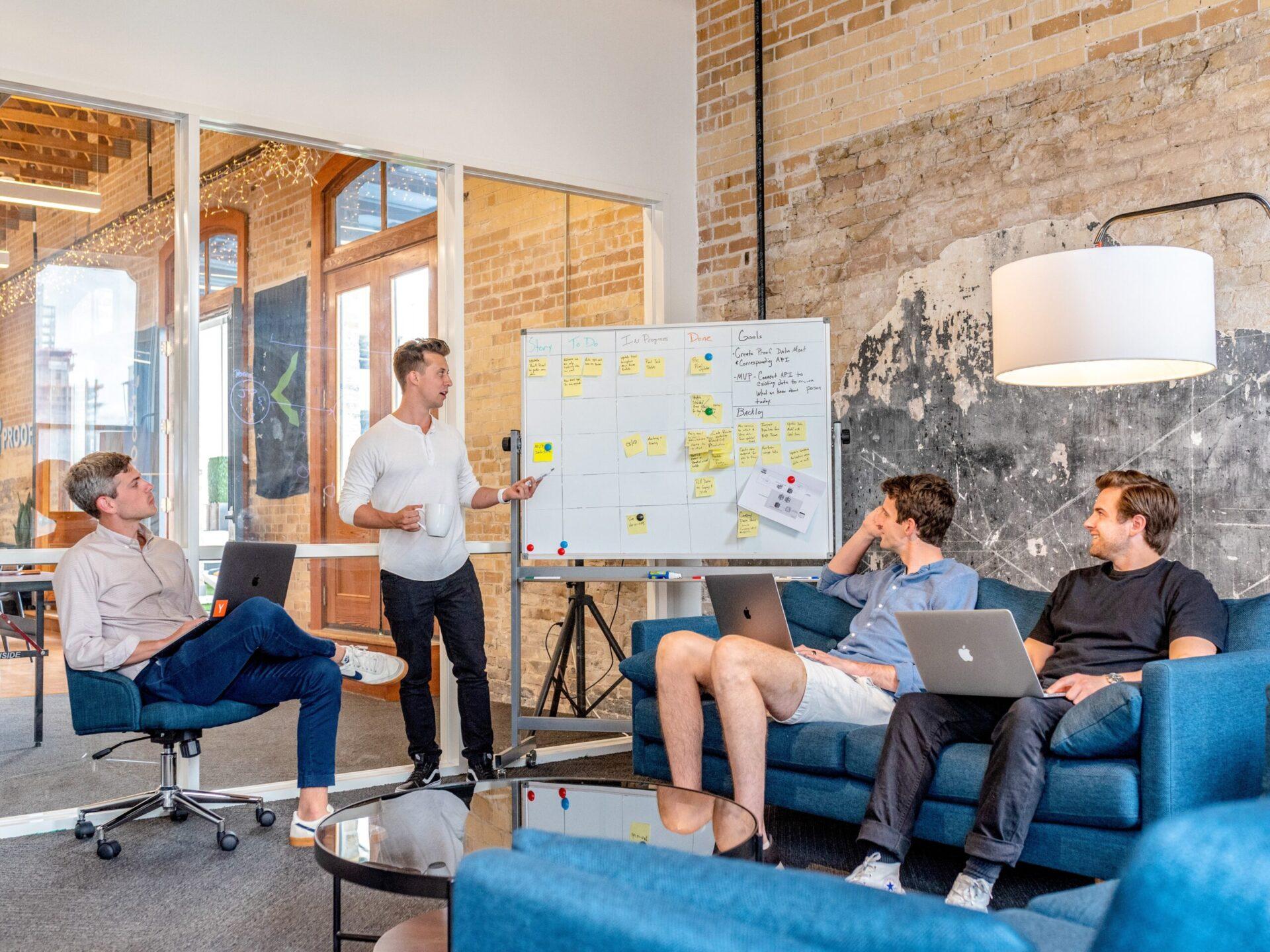 Investors meet in lobby